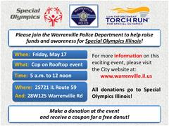 Cop on Rooftop - Special Olympics Illinois