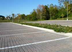 Permeable Paving Parking Lot at the Hubble Middle School