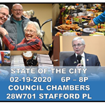 State of City collage photo of Mayor Brummel and other attendees at the 2019 State of the City Addre