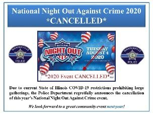 National Night Out 2020-Cancelled event