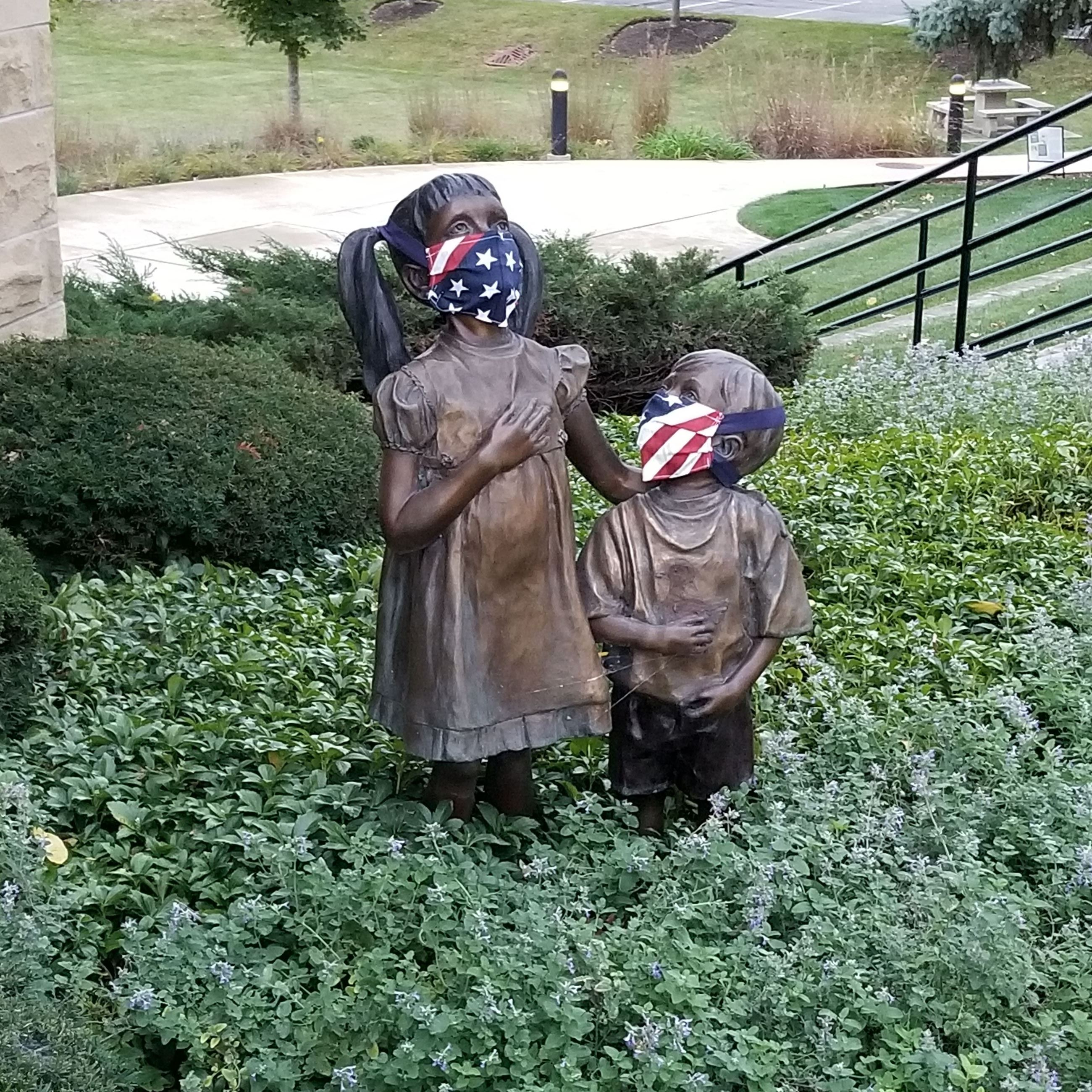 Statue Kids with Masks