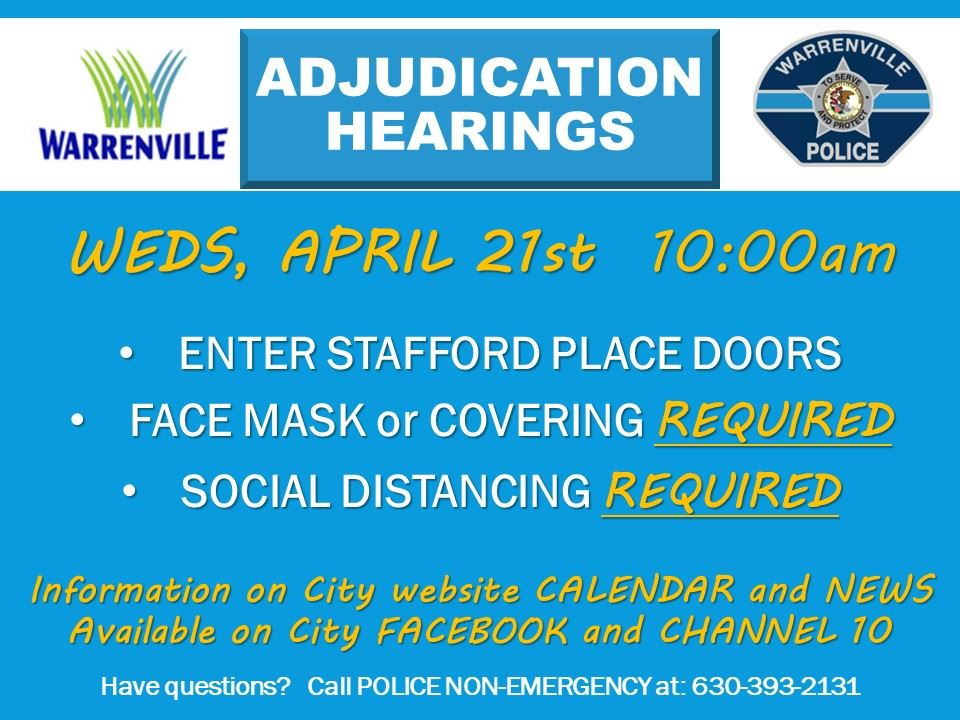 Adjudication Hearings 04/21/21