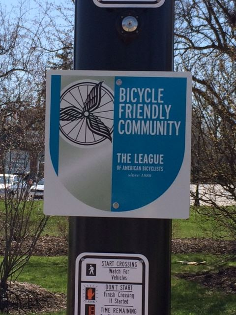 2016 Bicycle Friendly Community Sign (SW corner Butterfield and Batavia) 3 of 3