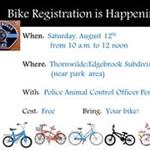 Bike Registration event