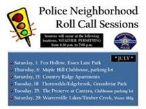 Police Neighborhood Roll Call sessions