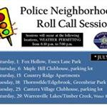 Police Neighborhood Roll Call