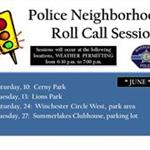 Police Neighborhood Roll Calls - June