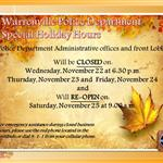 Police Special Holiday Administrative Hours