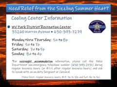 WV Cooling Center Information