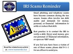 IRS Scams - Reminder